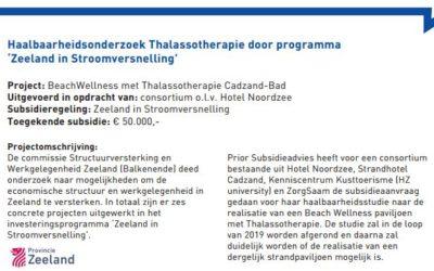 Subsidieregeling Zeeland in Stroomversnelling